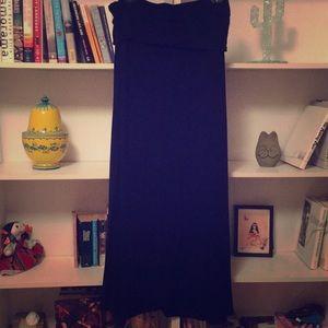 Black Maxi Skirt // Dress